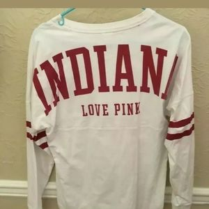 Victoria Secret Pink Indiana University IU shirt